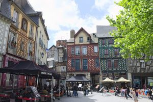 photographie du centre ville de Rennes et de l'architecture des logements